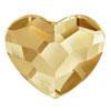 Swarovski Heart Golden Shadow 10 mm