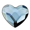Swarovski 2808 Heart Denim Blue 10 mm