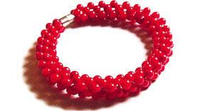 braccialetto, corallo bambù