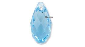 6010 Briolette Pendant Air Blue Opal