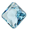 Swarovski 6431 Princess Cut Pendant 9 mm Aquamarine