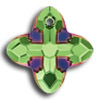 Swarovski 6868 Cross Tribe Peridot-Scarabeus Green