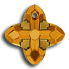 Swarovski 6868 Cross Tribe Topaz-Dorado
