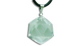 Colgante de Cuarzo Cristal de Roca y Plata
