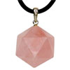 Pink Quartz Pendant with Silver