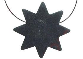 Colgante de Lava Etna  Estrella 8 puntas