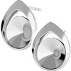 Silver Earrings, to fit Rivolis ref.1122 SS39 8 mm