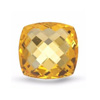 Natural Citrine 12 mm cut Square Chessboard