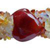 Agate heart  bracelet and Rock Crystal