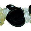 Black Agate bracelet and Rock Crystal