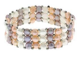 bracelet Perle d eau Douce Multicolore