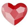 Swarovski Heart Royal Red 10 mm