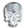 Swarovski 2856 Skull No Hot Fix Light Chrome 10,0 x 7,0 mm