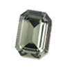 Vintage Swarovski 4600 Octogon 8 x 10 mm Black Diamont
