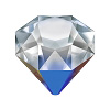 Swarovski 4928 Tilted Chaton Bermuda Metallic Blue 12 mm
