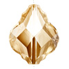 Swarovski 5058 Baroque Bead Golden Shadow