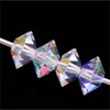 Swarovski 5305 Flattened Bicones Crystal AB 5 mm