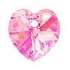 Swarovski 6228 Xilion Heart Light Rose AB 18,0 x 17,5 mm
