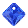 Swarovski 6431 Princess Cut Pendant 9 mm Majestic Blue