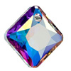 Swarovski 6431 Princess Cut Pendant 9 mm Crystal AB