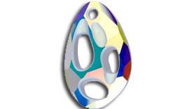 Swarovski Radiolarian Pendant Crystal AB 34 mm