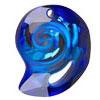 Swarovski Sea Snail Pendant Bermuda Blue 28