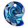 Swarovski 6731 Sea Snail Pendant Bermuda Blue 14