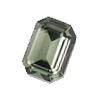 Vintage Swarovski 4600 Octogon 6 x 8 mm Black Diamont
