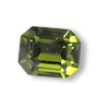 Vintage Swarovski 4600 Octogon 6 x 8 mm Olivine  Foiled Gold