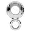 Entrepieza plata bola hueco 3,20 mm con anilla charm