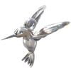 Charm plata pajaro colibri