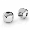 5.5 mm hexagonal silver spacer 2 mm hole