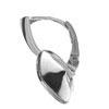 Silver Earrings, to 4470 Swarovski of12 mm