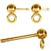 Earring ball 4 mm gold plated