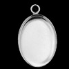 Silver Findings Pendant 13x18 mm